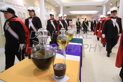 Knight of Columbus pass the oils as they process to the alter during Chrism Mass at Holy Cross Church in Dover, Del., Monday, April 2, 2012. photo/www.DonBlakePhotography.com