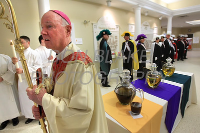 Bishop Malooly prepares to process to the alter during Chrism Mass at Holy Cross Church in Dover, Del., Monday, April 2, 2012. photo/www.DonBlakePhotography.com