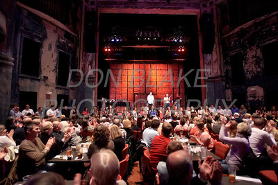 All the performers gather for a song before intermission during Ursuline Academy Coffee House at The Queen in Wilmington, Del., Sunday, April 23, 2012. photo/ Don Blake Photography