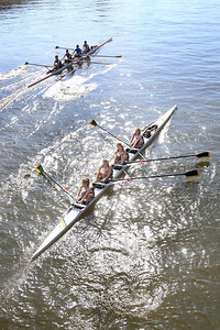 St. Mark's Girls Crew Team practice on the Christiana River, Thursday, April 19, 2012. photo/ www.DonBlakepPhotography.com