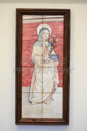 An image of St. Clare hangs on the wall in the Chapel at the Capuchin Poor Clares, St. Veronica Giuliani Monastery in Wilmington. photo/Don Blake Photography.com