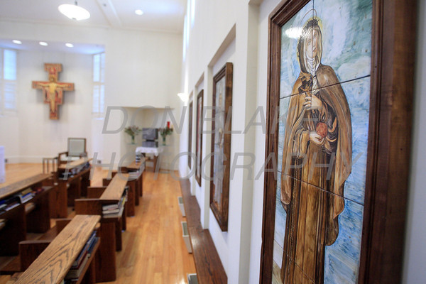 An image of St. Veronica hangs on the wall in the Chapel at the Capuchin Poor Clares, St. Veronica Giuliani Monastery in Wilmington. photo/Don Blake Photography.com
