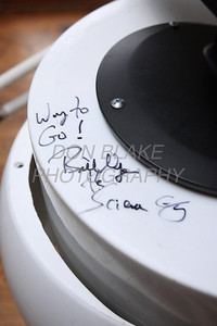 Ben had his robot signed by Bill Nye the Science Guy during the White House Science Fair. photo/ www.DonBlakePhotography.com
