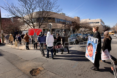 About 150 people joined the Delaware Right to Life March in Wilmington, Friday, January 20, 2012 that walked by the Carvel State Building and Planed Parenthood. photo/Don Blake Photography.com
