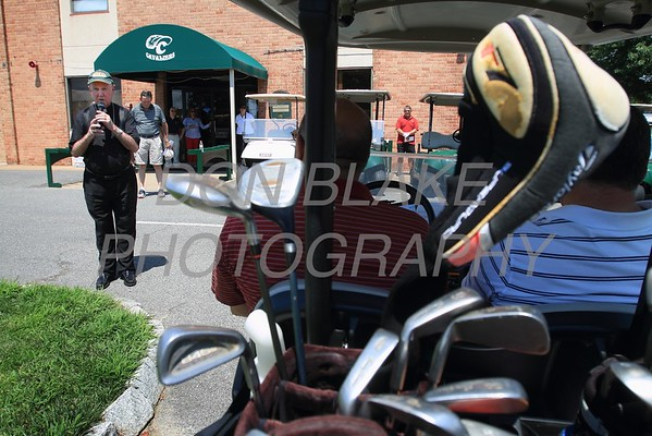 Bishop Malooly gives a blessing during the 24th Annual CYM Golf Tournament at Cavalier Country Club, Monday, July 18, 2016. wwwDonBlakePhotography.com