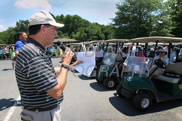 Joe McNesby gives some last minute instuctions during the 24th Annual CYM Golf Tournament at Cavalier Country Club, Monday, July 18, 2016. wwwDonBlakePhotography.com