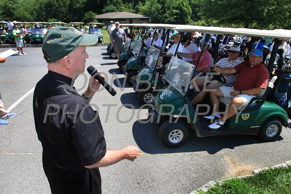 Bishop Malooly gives some last minute instuctions during the 24th Annual CYM Golf Tournament at Cavalier Country Club, Monday, July 18, 2016. wwwDonBlakePhotography.com