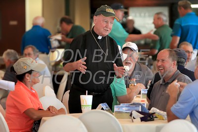 Bishop Malooly talks with golfers during the 24th Annual CYM Golf Tournament at Cavalier Country Club, Monday, July 18, 2016. wwwDonBlakePhotography.com