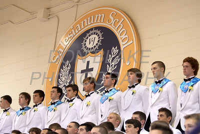 Salesianum graduates stand an their name is called during the commencement ceremony at Salesianum School, Friday, June 1, 2012. photo/ www.DonBlakePhotography.com