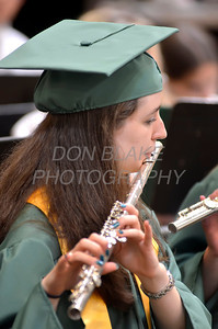 St. Mark's graduate Shannon Russell plays the Alma Mater with the band during the commencement ceremony at St. Mark's High School, Saturday, June 2, 2012. photo/ www.DonBlakePhotography.com
