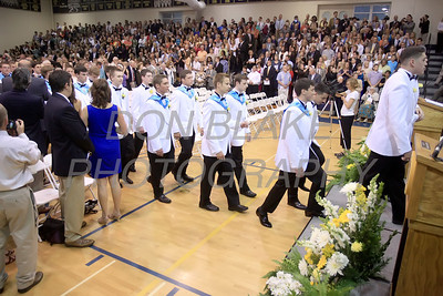 Salesianum graduates process to their seats during the commencement ceremony at Salesianum School, Friday, June 1, 2012. photo/ www.DonBlakePhotography.com