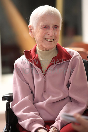 Sr. Jeannette Murray smiles as she recounts her years with the Benedictine Sisters at St. Gertrude's Monastery in Ridgely, Maryland. photo/ www.DonBlakePhotography.com