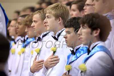 Salesianum graduates stand for the National Anthem during the commencement ceremony at Salesianum School, Friday, June 1, 2012. photo/ www.DonBlakePhotography.com