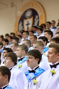 Salesianum graduates smile during the commencement ceremony at Salesianum School, Friday, June 1, 2012. photo/ www.DonBlakePhotography.com
