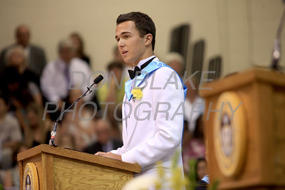 Salesianum graduate student speaker Luke Bader during the commencement ceremony at Salesianum School, Friday, June 1, 2012. photo/ www.DonBlakePhotography.com