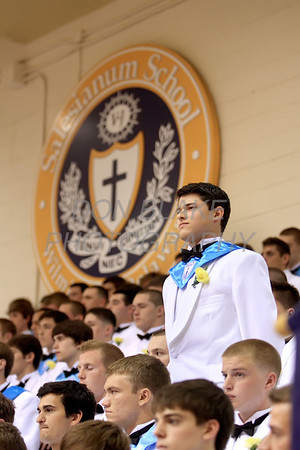 Salesianum graduate Kevin O'Connor stands to be recognized for an award during commencement ceremony at Salesianum School, Friday, June 1, 2012. photo/ www.DonBlakePhotography.com