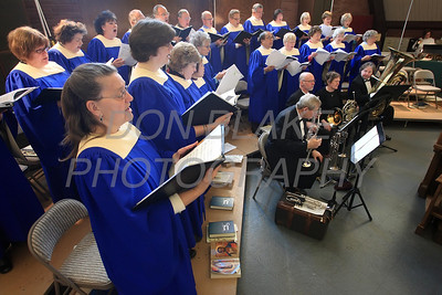 St. Mary of the Assumption choir sings during mass celebrating St. Mary of the Assumption's 240 years. photo/ www.DonBlakePhotography.com