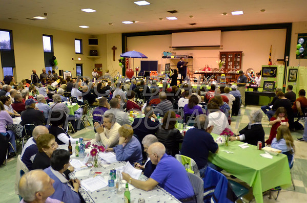Parishioners pack Good Shepherd School's cafeteria during Good Shepherd's No-So-Silent Auction to benefit Good Shepherd School in Perryville, Maryland, March 24, 2012. photo/ www.DonBlakePhotography.com