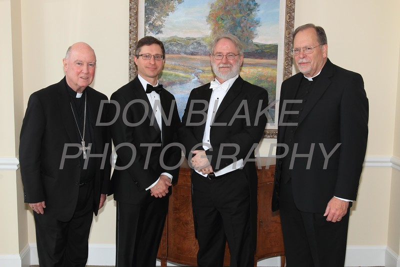 Bishop Maooly, Christopher Viceconte President , St. Thomas More Society, James McGiffin Jr, Award recipient, and Fr. Leonard Klein, Chaplain, St. Thomas More Society.