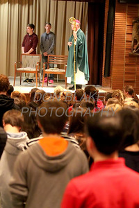Bishop Malooly celebrates mass with the kids during CHAOS at Padua Academy, Sunday, October 27, 2013. wwwDonBlakePhotography.com