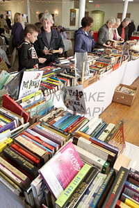 Shoppers check out the books for sale during St. Helena's Christmas Bazzar, Saturday, November 9, 2013. photo/www.DonBlakePhotography.com