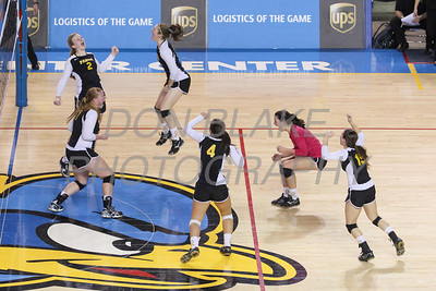 Padua's volleyball team celebrates after winning the championship during the Girls State Volleyball Championship at the Bob Carpenter Center, Monday, November 11, 2012. photo/www.DonBlakePhotography.com