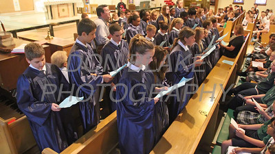 St. Anthony of Padua School choir sings the during the Youth Rosary Rally at Holy Spirit Church. www.DonBlakePhotography.com