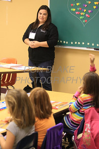 Cece Cicone teaches religious ed at Holy Family Parish, Monday, October 22, 2012. www.DonBlakePhotography.com