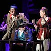 Quinn Murphy who plays Thénardier, Tess Edwards from Padua who plays Madame Thénardier perform during Salesianum Theater production of Les Miserables, Friday, March 2, 2018. wwwDonBlakePhotography