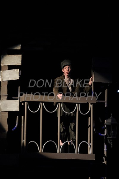 Cole Rzucidlo from Immaculate Heart of Mary School who plays Gavroche performs during Salesianum Theater production of Les Miserables, Friday, March 2, 2018. wwwDonBlakePhotography