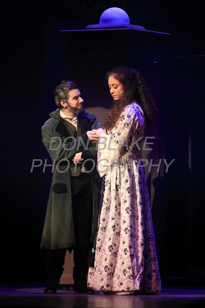 Jake Collins who plays Jean Valjean and Sydney Kenton from Padua who plays Cosette perform during Salesianum Theater production of Les Miserables, Friday, March 2, 2018. wwwDonBlakePhotography