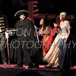 Jake Poppiti who plays Inspector Javert and Reece Wagner from Padua who plays Fantine perform during Salesianum Theater production of Les Miserables, Friday, March 2, 2018. wwwDonBlakePhotography