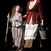 Delaney Goodman from Handy Elementry School who plays Young Èponine and Tess Edwards from Padua who plays Madame Thénardier perform during Salesianum Theater production of Les Miserables, Friday, March 2, 2018. wwwDonBlakePhotography