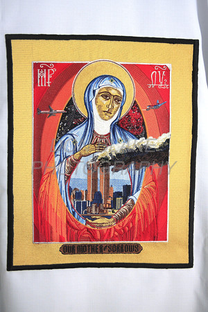 Vestment that Bishop Malooly will be wearing for September 11 masses. The Dialog/Don Blake