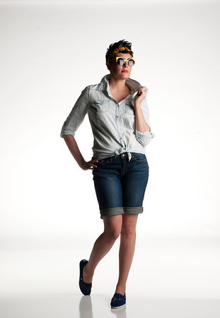 How to dress like a rockstar no matter your destination: night out, grocery shopping, day with kids, day a office. Model: Shanna Hawa<br /> Photo/Scott Eslinger  -  ©2013 Eslinger Photographics