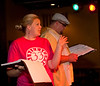 """Cast members Ashley Riley, left, and Brad Huckabay rehearse for Studio 33's production of """"I love you, You're Perfect, Now Change"""" at the Gig in June.<br /> Photo/Scott Eslinger  -  ©2013 Eslinger Photographics"""