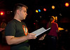 "Cast member Jacob Wills rehearses for Studio 33's production of ""I love you, You're Perfect, Now Change"" at the Gig in June.<br /> Photo/Scott Eslinger  -  ©2013 Eslinger Photographics"