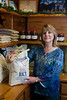 Debbie Robbins, president of Doguet's Rice Milling Company in Beaumont, Texas, poses with some of the rice mills products.<br /> Photo/Scott Eslinger  -  ©2013 Eslinger Photographics