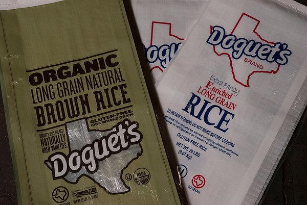 Along with with the usual white rice one of the big sellers is currently orgnanic rice at Doguet's Rice Milling Company in Beaumont, Texas.<br /> Photo/Scott Eslinger  -  ©2013 Eslinger Photographics