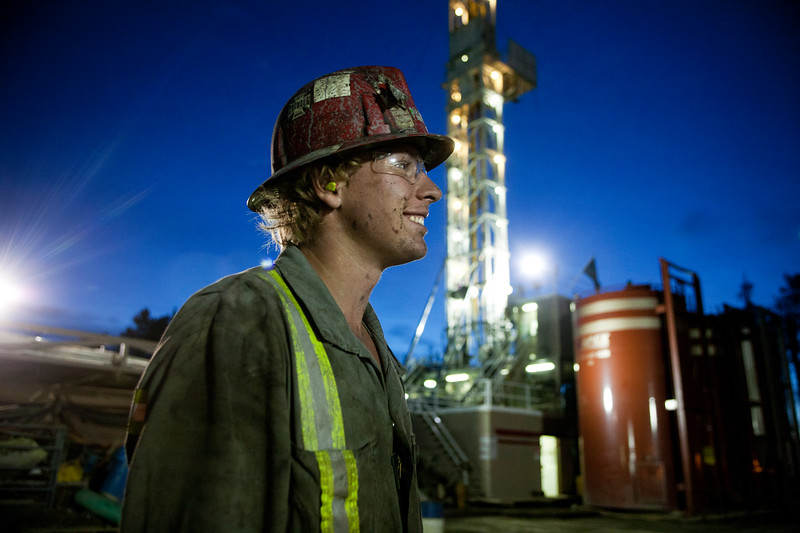 Matt Shandera photographed in Northern Alberta for Maclean's magazine for a story on well paying jobs in Canada.