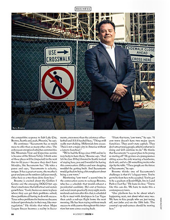 Portrait of President and CEO of the Greater Sacramento Economic Council, Barry Broome for Sacramento Magazine's New Era Issue.