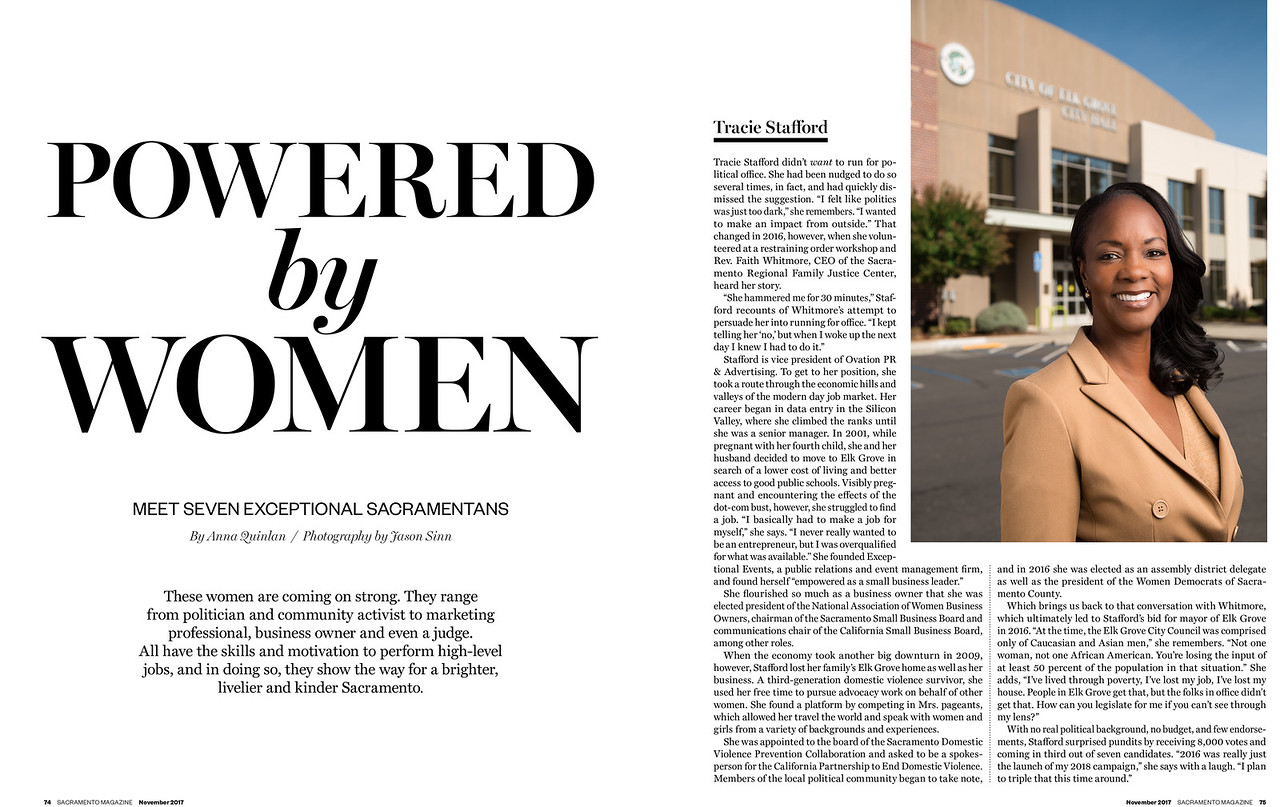 """Photography for Sacramento Magazine's 2017 """"Powered by Women"""" article."""