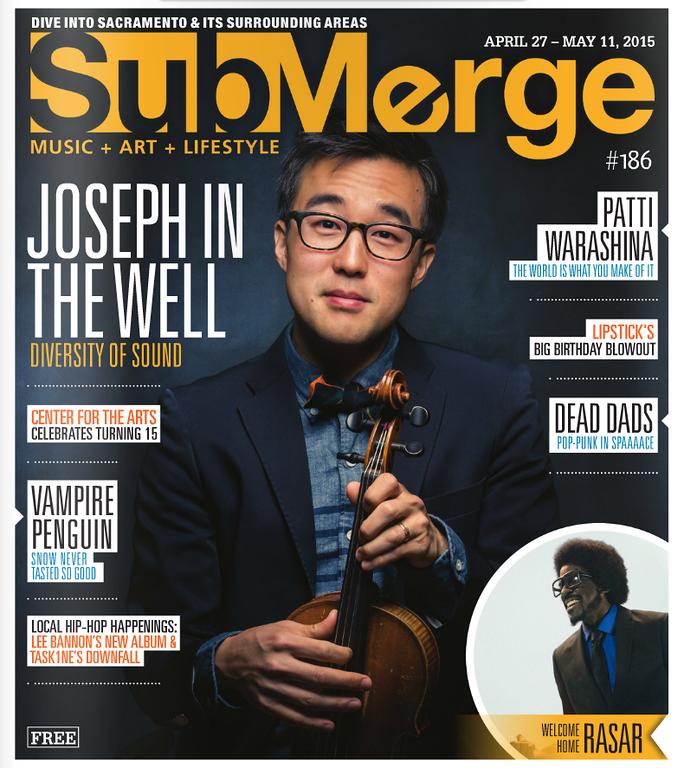 Portrait of violinist, Joe Kye taken for Submerge Magazine.