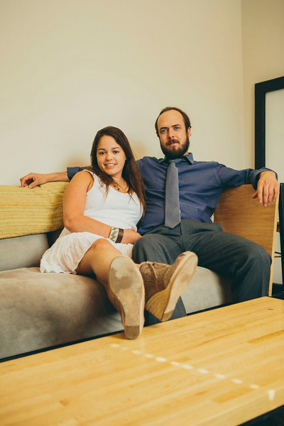June 11 2014- Ryan Ratigan and fiancé are photographed in their new home, The Cottages, for The Encounter Magazine.