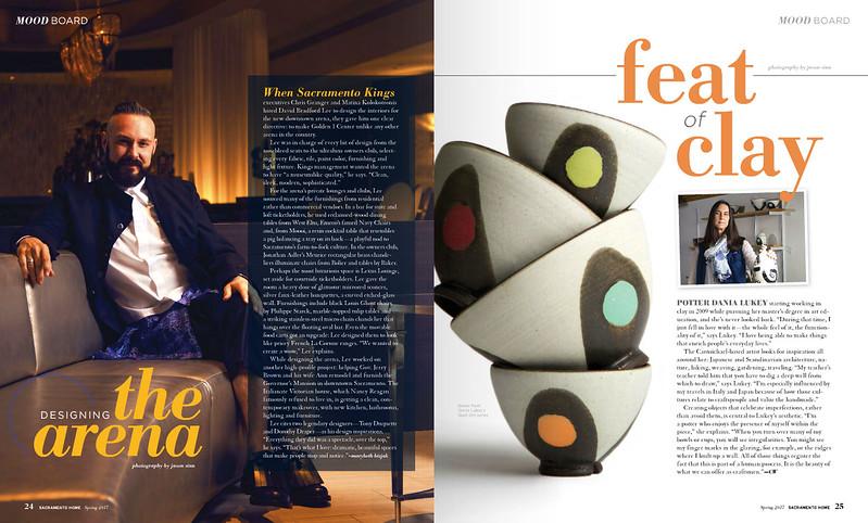 NBA Sacramento Kings Interior Designer David Bradford Lee and Pottery Maker Dania Lukey - Sacramento Home Magazine