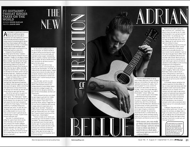 Portrait of guitarist, Adrian Bellue taken for Submerge Magazine.
