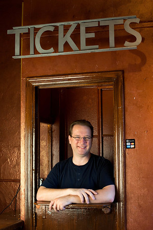 Shoot for LA Stage Times article on local theater box offices