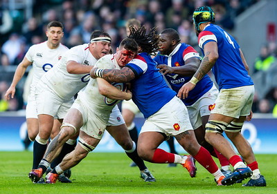 England v France, Guinness 6 Nations Championship, Twickenham, London, UK