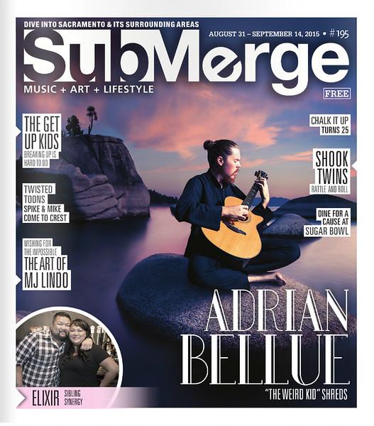 Adrian Bellue -Submerge Magazine Cover