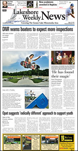 Lakeshore Weekly News page 1A, May 22, 2012.